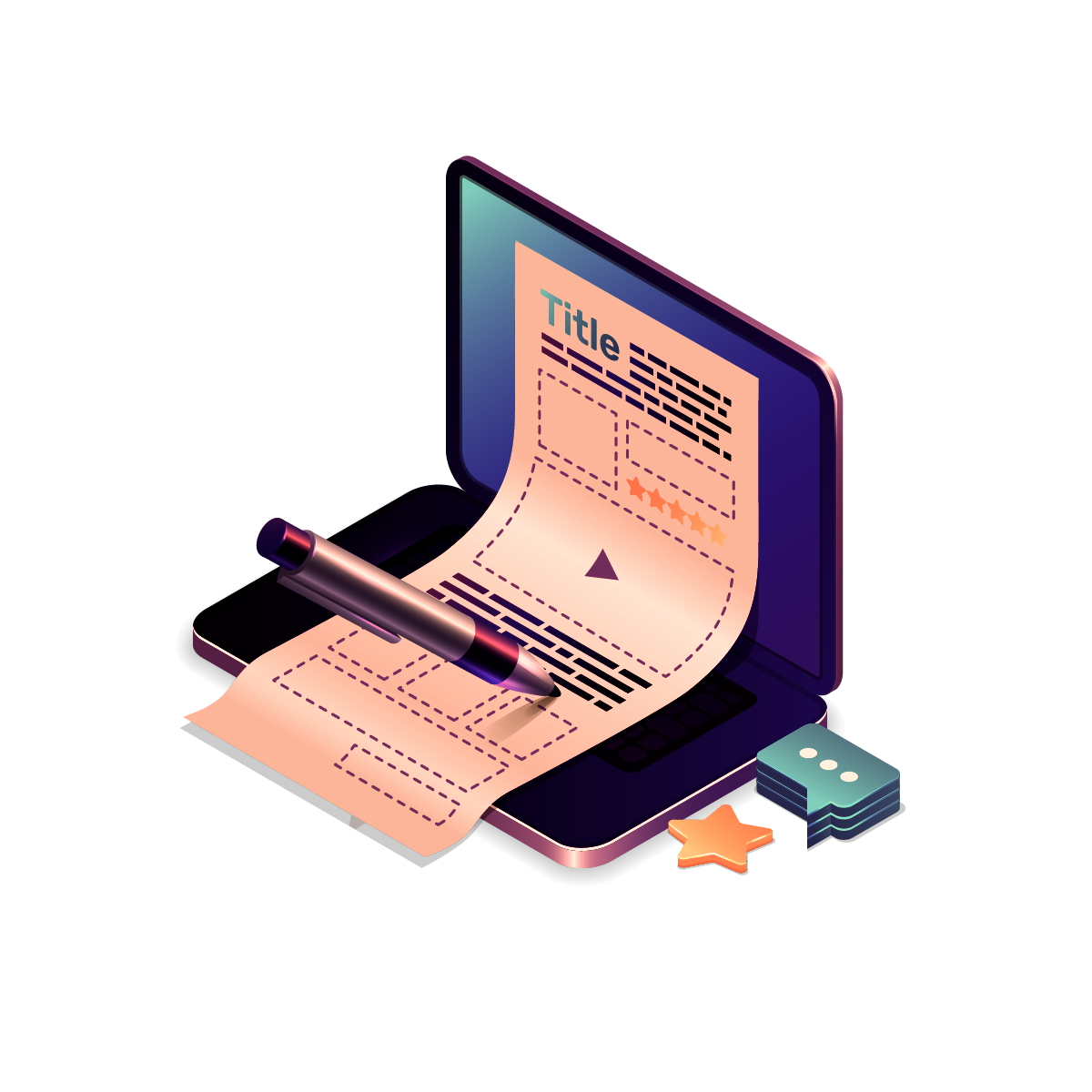 —Pngtree—quality content production isometric isolated_5317156